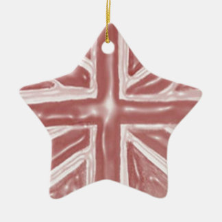 Liquid Red Union Jack Christmas Ornament
