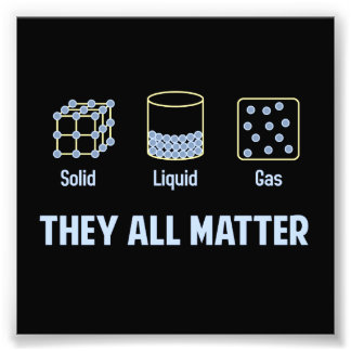 Liquid Solid Gas - They All Matter Photo Print