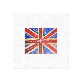 Liquid Union Jack Flag Canvas Print