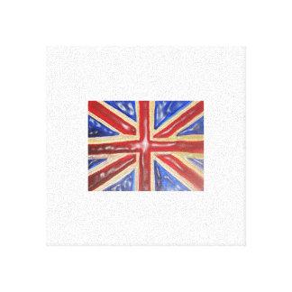 Liquid Union Jack Flag Gallery Wrap Canvas