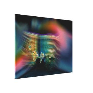 Liquid Vibrations Funky Fish Wrapped Canvas Print