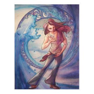 Liquid Water Figure Postcard