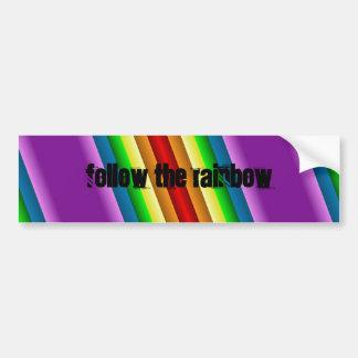 Liquidartz Double Edged Rainbow Bumper Sticker