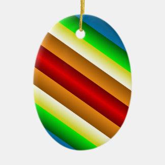 Liquidartz Double Edged Rainbow Christmas Ornament