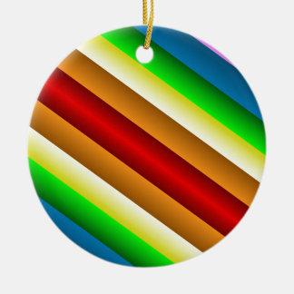 Liquidartz Double Edged Rainbow Round Ceramic Decoration