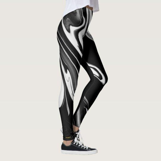 LiquidGold (in Black and White) Leggings