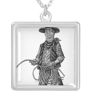 LiquidLibrary 4 Silver Plated Necklace