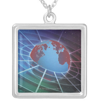 LiquidLibrary Silver Plated Necklace