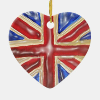 Liquified Union Jack Christmas Ornament
