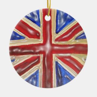Liquified Union Jack Christmas Ornament