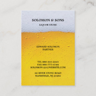 Liquor store business cards zazzle uk liquor beer store chubby business card reheart Images