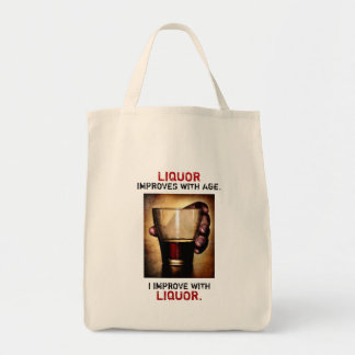 Liquor Improves  with Age Photograph Customisable Tote Bag