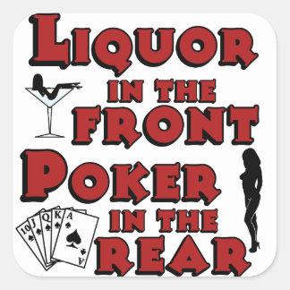 Liquor In The Front Poker In The Rear Sticker