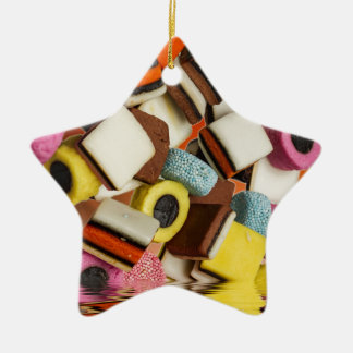 Liquorice All Sorts sweets Ceramic Star Decoration