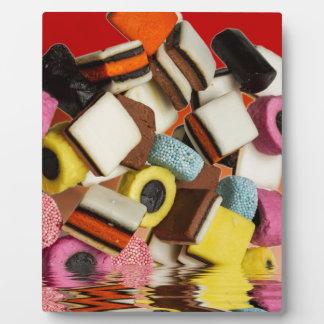 Liquorice All Sorts sweets Plaque
