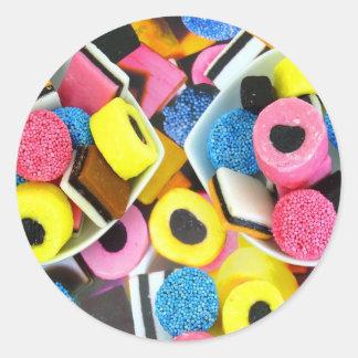 liquorice-allsorts-171343 liquorice allsorts sweet classic round sticker
