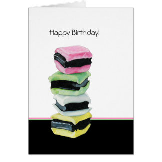 Liquorice Allsorts Birthday Card