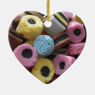 Liquorice Allsorts Ceramic Heart Decoration