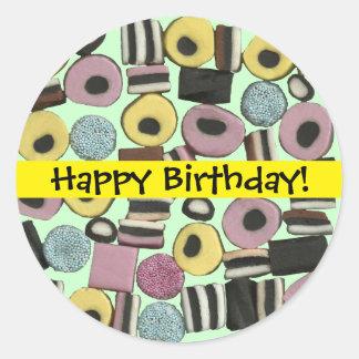 Liquorice Assortment - Birthday Sticker