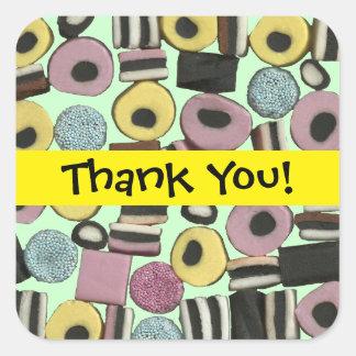 Liquorice Assortment - Thank You Sticker