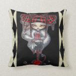 Liquorice Candy Stick Fantasy Goth Pillow