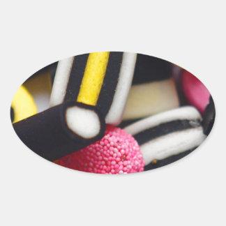 liquorice sweets retro bright rainbow design sticker