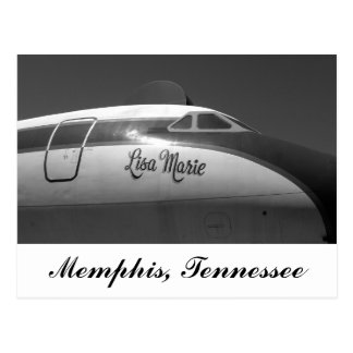 Lisa Marie Airplane Memphis Tennessee Postcard