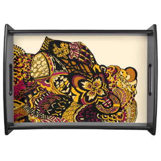 Lisa's Lion yellow Serving Tray