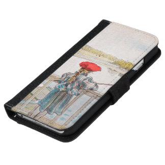 Lisbet Fishing by Carl Larsson, Vintage Art iPhone 6 Wallet Case