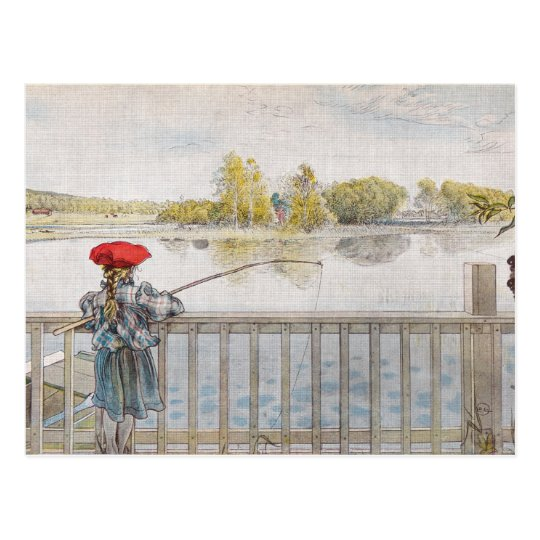 Lisbeth Fishing by Carl Larsson Postcard