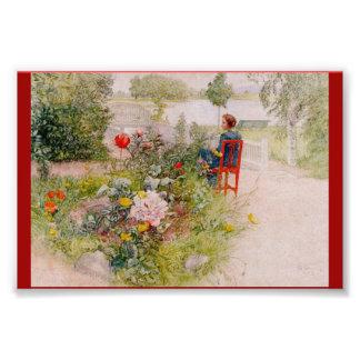 Lisbeth  in the Flower Garden Art Photo