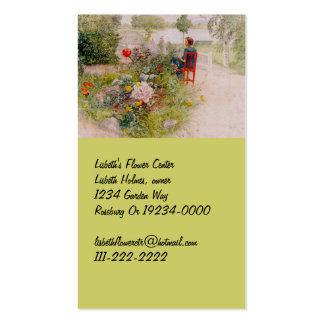 Lisbeth  in the Flower Garden Double-Sided Standard Business Cards (Pack Of 100)
