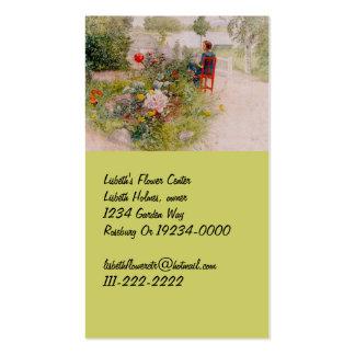 Lisbeth  in the Flower Garden Pack Of Standard Business Cards
