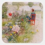 Lisbeth  in the Flower Garden Square Sticker