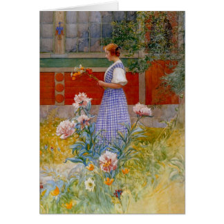 Lisbeth with Peonies Greeting Card