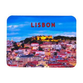 Lisbon 001B Rectangular Photo Magnet