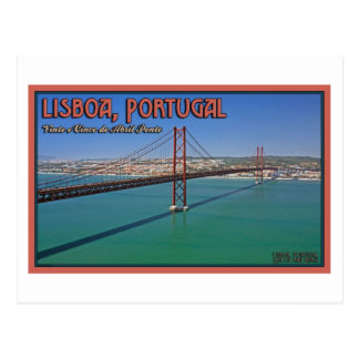 Lisbon - 25th of April Bridge Postcard
