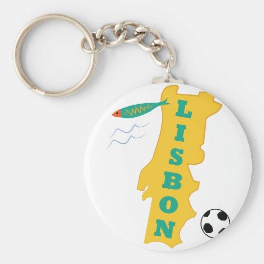 Lisbon Basic Round Button Key Ring