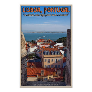 Lisbon - Boat on the Tejo Poster