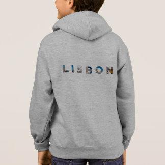 lisbon city portugal landmark inside text symbol hoodie