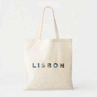lisbon city portugal landmark inside text symbol tote bag