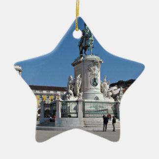 Lisbon Commerce Square Ceramic Star Decoration
