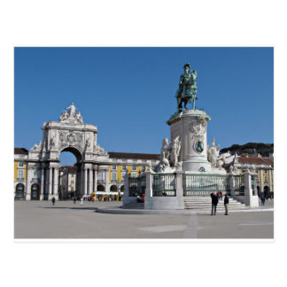 Lisbon Commerce Square Postcard