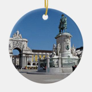 Lisbon Commerce Square Round Ceramic Decoration