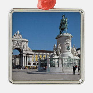 Lisbon Commerce Square Silver-Colored Square Decoration