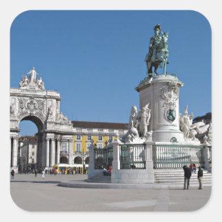 Lisbon Commerce Square Square Sticker