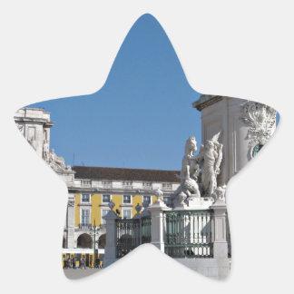 Lisbon Commerce Square Star Sticker