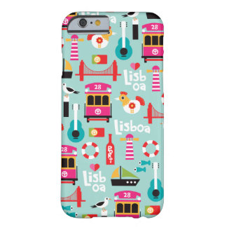 Lisbon lisboa portugal travel icons illustration barely there iPhone 6 case