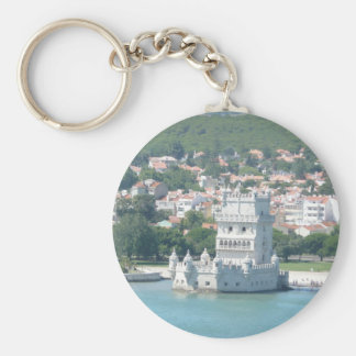 Lisbon, Portugal Basic Round Button Key Ring