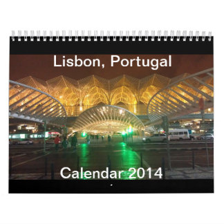 Lisbon, Portugal Calendar 2014 (modify)